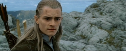 Legolas mourns Gandalf