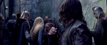 Legolas steadies Eowyn