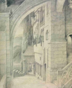 Berodin's house; drawing by Alan Lee
